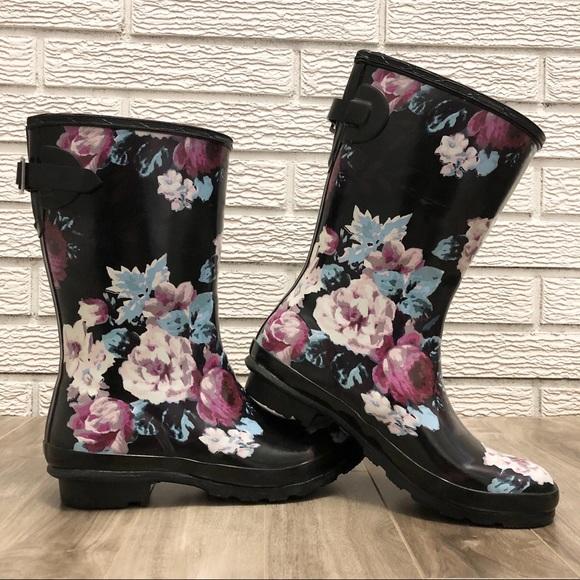 London Fog Shoes - London Fog | Hadley, Floral Rain Boots